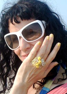 A yellow ring and nails